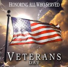 County Offices will be closed in observance of Veteran's Day