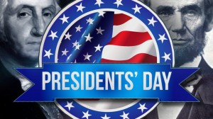 Closed in observance of President's Day